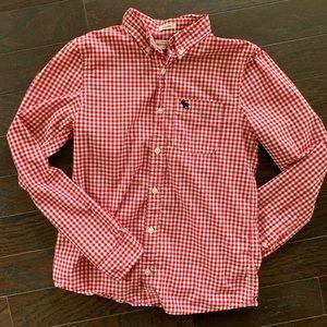 Abercrombie kids boys gingham shirt